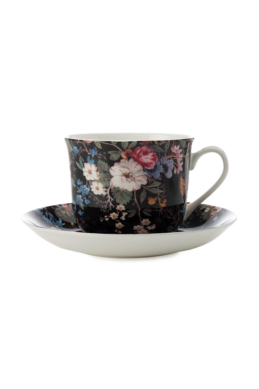 Чайная пара Полночные цветыПосуда<br>Бренд: Maxwell &amp; Williams. 0.48л, костяной фарфор. Страна: Китай<br>