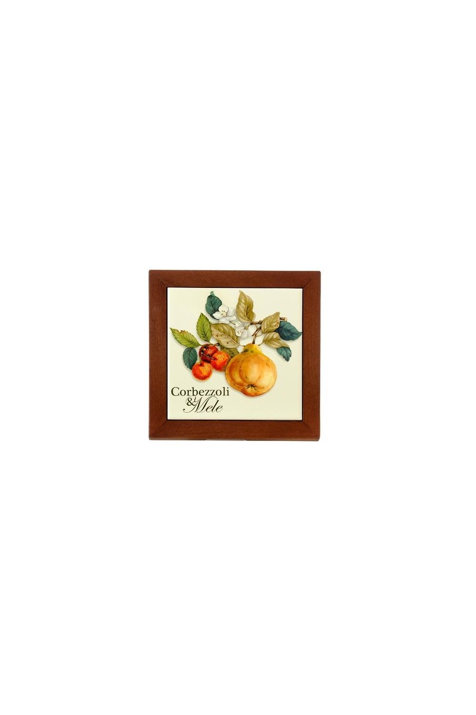 Подставка под горячее Итальянские фруктыПосуда<br>Бренд: Nuova Cer. 19х19см, дерево, керамика. Страна: Италия<br>