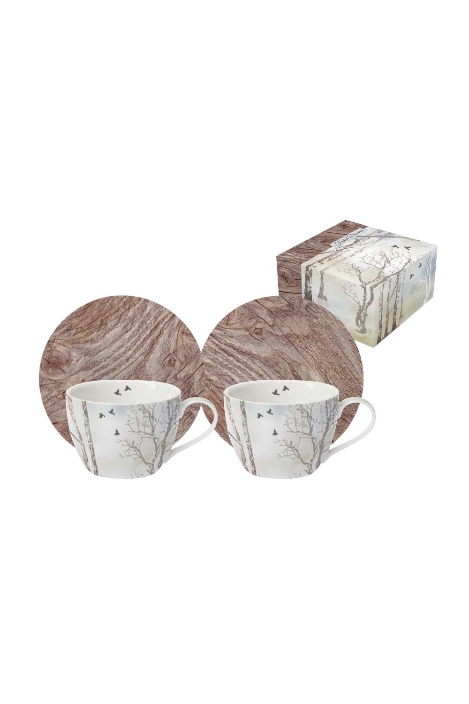 Кофейный набор ПриродаПосуда<br>Бренд: Easy Life (R2S). Кофейный набор (2 чашки 0.08л, 2 блюдца), фарфор. Страна: Китай<br>