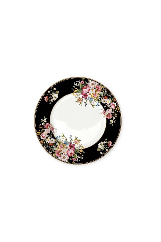 Тарелка Цветочный карнавалПосуда<br>Бренд: Easy Life (R2S). Тарелка обеденная, 26,5см, костяной фарфор. Страна: Китай<br>