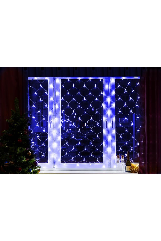 Гирлянда 1,5х1,5м 150 LED Синие СетьПодарки на Новый год 2018<br>Данная гирлянда имеет Синий цвет свечения светодиодов, размер 1,5*1,5 метра и предназначена для внутреннего использования.<br>