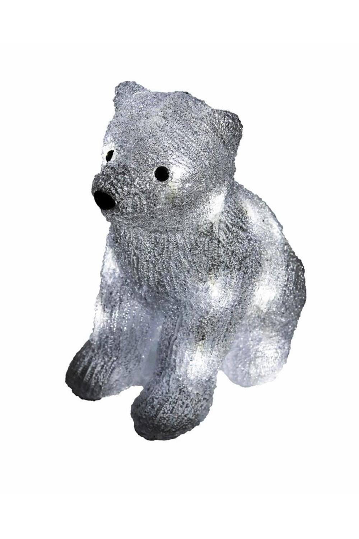 Акриловая светодиодная фигура Медвежонок фигура акриловая светодиодная neon night белый мишка 20 led 4 5в 20 см