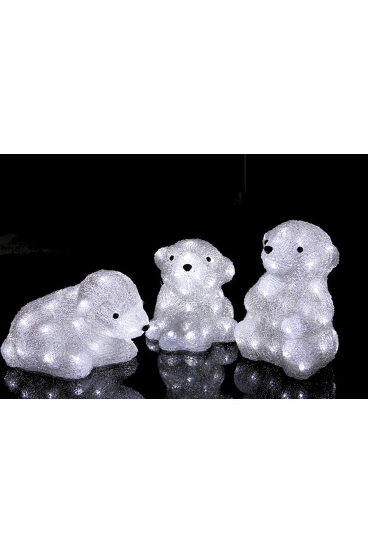 Акриловая светодиодная фигура Медвежата фигура акриловая светодиодная neon night белый мишка 20 led 4 5в 20 см