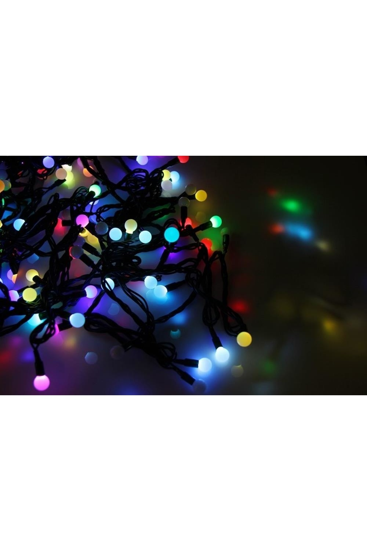 Гирлянда 10 м, 100 диодов, цвет RGB МультишарикиПодарки на Новый год 2018<br>Благодаря хорошей влагозащищенности гирлянду можно использовать как в помещении, так и на улице.<br>Данная гирлянда имеет цвет свечения светодиодов мультиколор.<br>