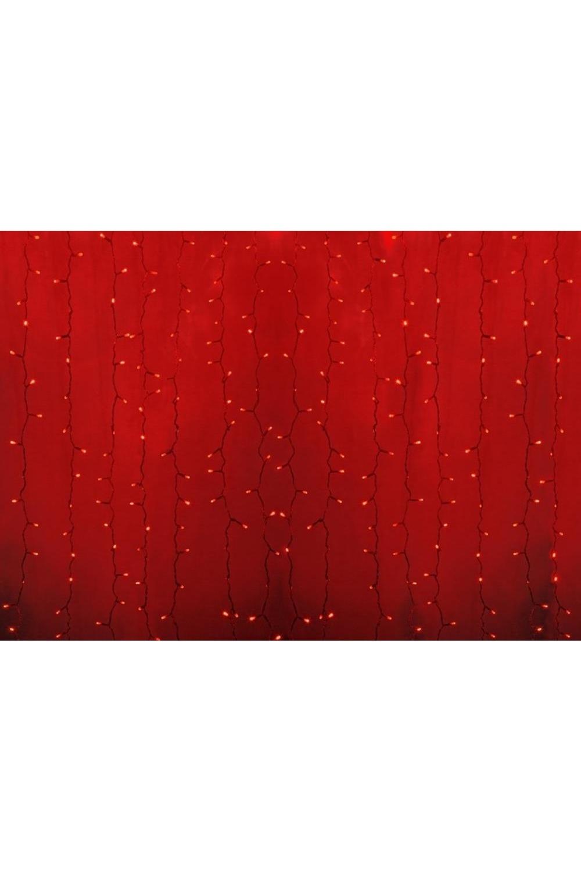 Гирлянда 2х3м, диоды КРАСНЫЕ Светодиодный ДождьПодарки на Новый год 2018<br>Гирлянда Светодиодный Дождь  представляет собой гибкий горизонтальный шнур-шину (2м), к которому через определенные промежутки крепятся вертикальные нити (20 шт.) со светодиодными лампами. Данная гирлянда имеет красный цвет свечения светодиодов.<br>
