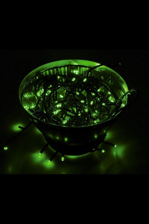 Гирлянда 10 м, 100 диодов, цвет зеленый Твинкл ЛайтПодарки на Новый год 2018<br>Гирлянду «Твинкл лайт» представляет собой общий провод с последовательно расположенными коротенькими отводами, направленными в разные стороны. На концах этих «отростков» расположены яркие светодиоды. Для создания праздничной светодинамики в общий провод встроен многопрограммный контроллер, который позволяет управлять 8 режимами свечения. Данная гирлянда имеет длину 10 м, зеленый цвет свечения светодиодов.<br>