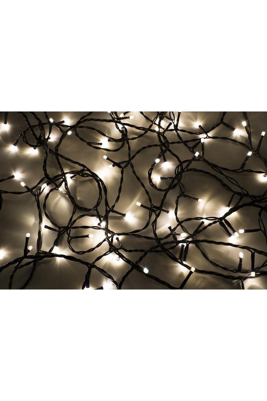 Гирлянда 10 м, 100 диодов, цвет теплый белый/мультиколор Твинкл ЛайтПодарки на Новый год 2018<br>Гирлянду «Твинкл лайт» представляет собой общий провод с последовательно расположенными коротенькими отводами, направленными в разные стороны. На концах этих «отростков» расположены яркие светодиоды. Для создания праздничной светодинамики в общий провод встроен многопрограммный контроллер, который позволяет управлять 8 режимами свечения.<br>