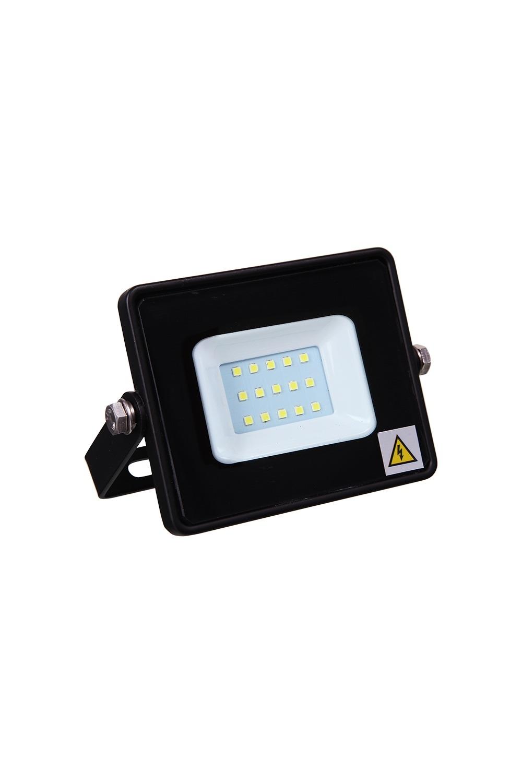 Прожектор светодиодный Тепло-белыйИнтерьер<br>Светодиодный прожектор – осветительный прибор, широко применяемый в современном мире, как для точечного, так и для локального освещения для подсветки фасадов зданий, дачных домов, дорожек, стоянок для автомобиля, улиц и двориков. Обладает повышенной степенью защиты от пыли и влаги (IP65), что позволяет его использовать как внутри, так и снаружи помещения. Срок службы (до 50 000 часов), низкое энергопотребление, а также высокая светоотдача являются основными преимуществами светодиодных прожекторов. Данная модель имеет мощность 10 Вт и тепло-белое свечение.<br>