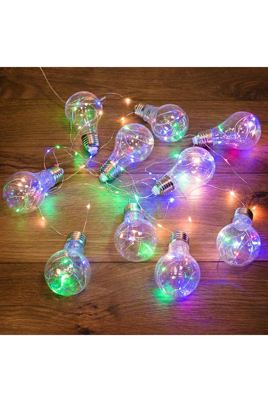"""Гирлянда светодиодная 3м, 100 LED, разноцветная """"Ретро-лампы"""""""