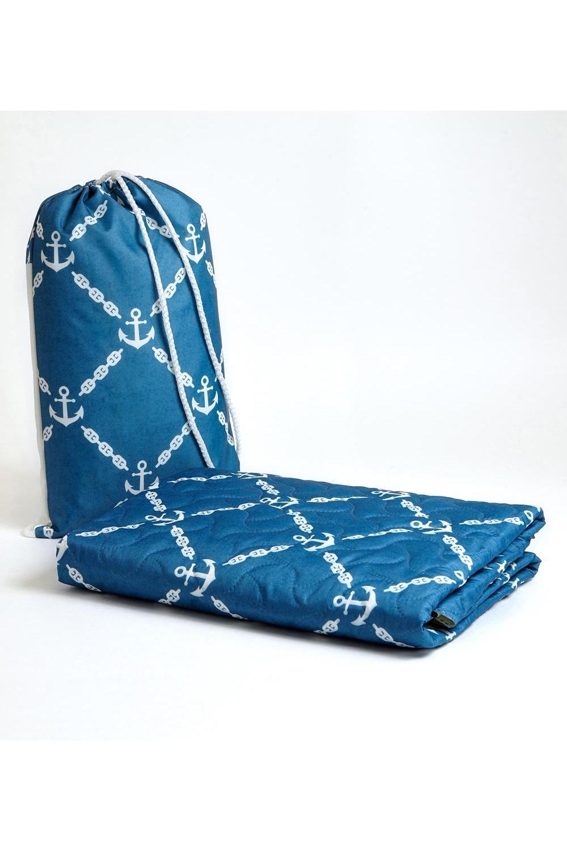 Пляжное покрывало детское ЯкоряДача и Путешествия<br>Коврики выполнены из мягкого стеганого полотна дышашей ткани. На таких ковриках комфортно лежать как взрослым, так и детям. Они хорошо стираются и быстро сохнут, не задерживают песок. Коврики легкие, компактные. Мини коврик упакован в мешочек-рюкзак. Такой коврик удобно взять с собой, отправляясь на морское побережье, дачу или просто пикник. Цвет изделия и вид стежки на мониторе может незначительно отличаться от оригинала. Рюкзак предназначен для переноса пляжного покрывала. Стирать при температуре 30 градусов. Нельзя отбеливать. Материал: полиэстер 100%. Размер: 90*140 см<br>