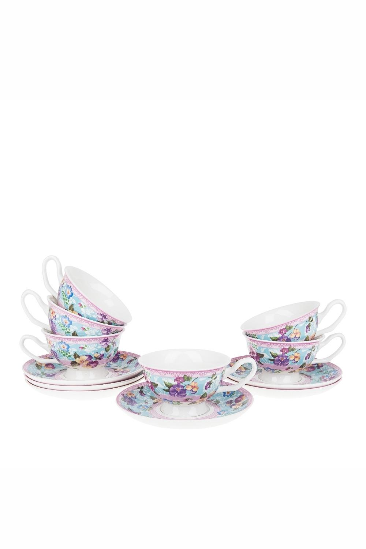Чайный набор МонталегриПосуда<br>Чайный набор 12пр. Объем 180мл. Материал: Фарфор<br>