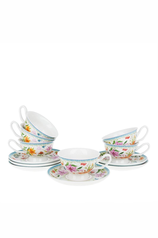 Чайный набор ОливейраПосуда<br>Чайный набор 12пр. Объем 180мл. Материал: Фарфор<br>