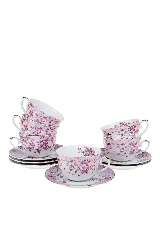 Чайный набор СальватерраПосуда<br>Чайный набор 12пр. Объем 250мл. Материал: Фарфор<br>