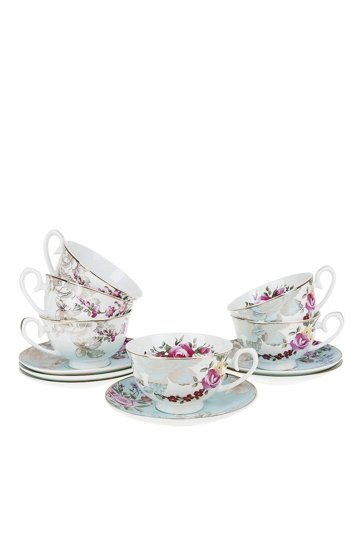 Чайный набор Английский стиль набор чайный лаура 6 12 250мл фарфор под уп