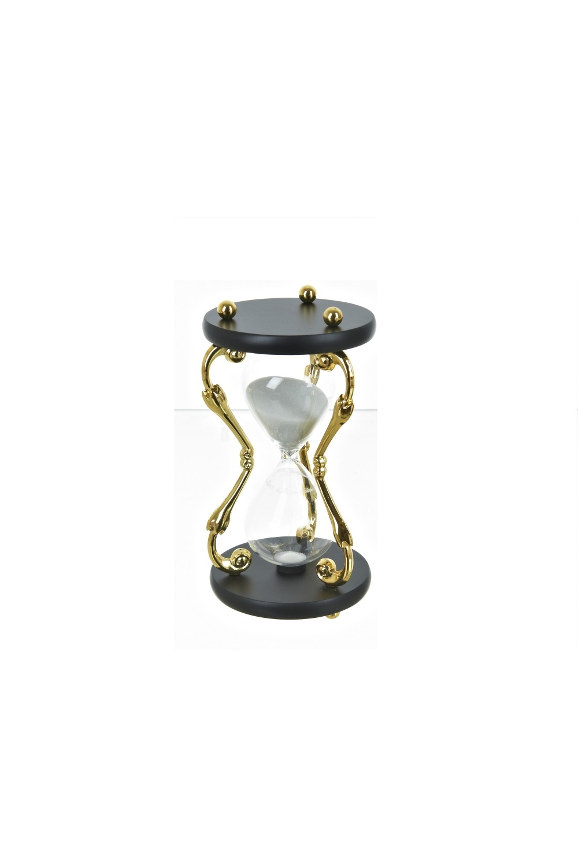 Часы песочные ГолдИнтерьер<br>Часы песочные d=11см. h=21см. (на 30 минут) (металл, стекло)<br>