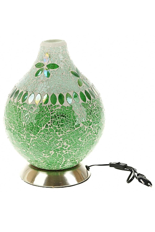 Лампа настольная ЛоренсоИнтерьер<br>Лампа настольная 20*20*27,5см. (цоколь-Е14, напряжение-230V, мощность 40W, провод-L=108см.) (индивидуальная коричневая упаковка)<br>