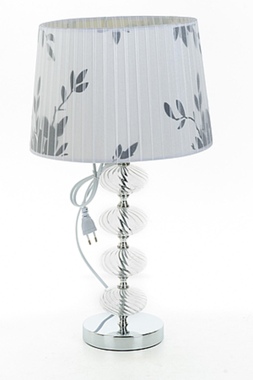 Лампа настольная КарменИнтерьер<br>Лампа настольная 30*30*53,5см. (цоколь-Е27, напряжение-250V, мощность 60W, провод-L=140см.) Материал: Стекло<br>