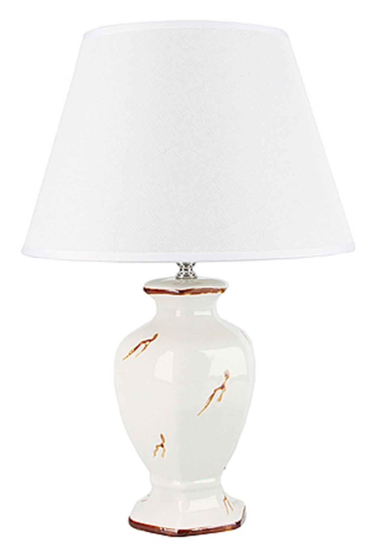 Лампа настольная ВенаИнтерьер<br>Лампа настольная d=30см.. h=45см. (цоколь-Е27 напряжение-220-240В, мощность-40Вт, провод-L=128см.) Материал: Керамика<br>