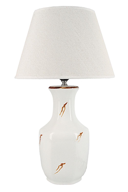 Лампа настольная ВенаИнтерьер<br>Лампа настольная d=30см.. h=51см. (цоколь-Е27 напряжение-220-240В, мощность-40Вт, провод-L=124см.) Материал: Керамика<br>