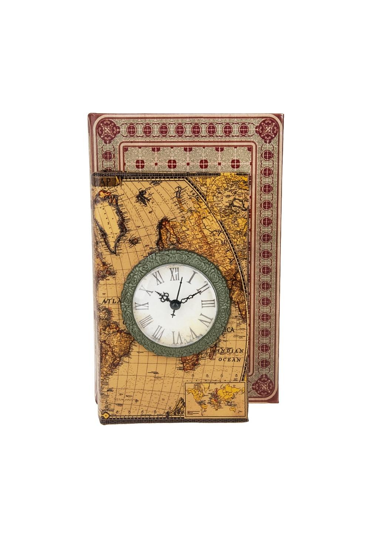 Шкатулка декоративная с часами Карта мира ключница декоративная с часами весна 33 21 8см часы 11 5 16 5см батарейка 1aa мдф белая