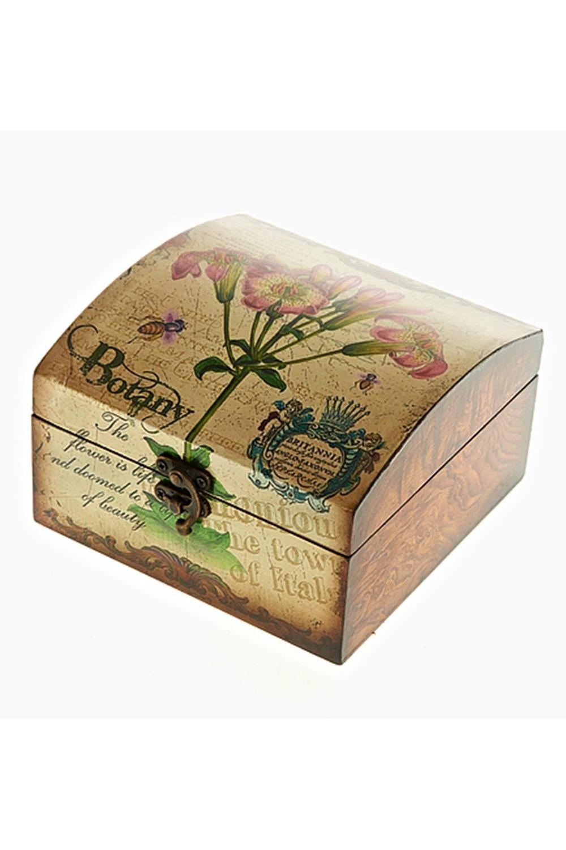 Шкатулка декоративная БотаникаШкатулки и наборы по уходу<br>Шкатулка декоративная, 16,5*16,5*10см. Материал: МДФ + комбинированные материалы<br>