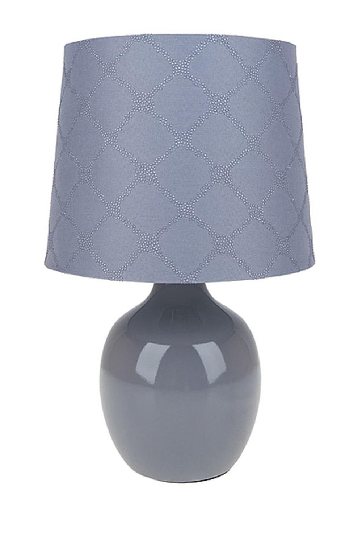 Лампа настольная Европа сераяИнтерьер<br>Лампа настольная,18*18*28,5см. Материал: керамика, ткань<br>