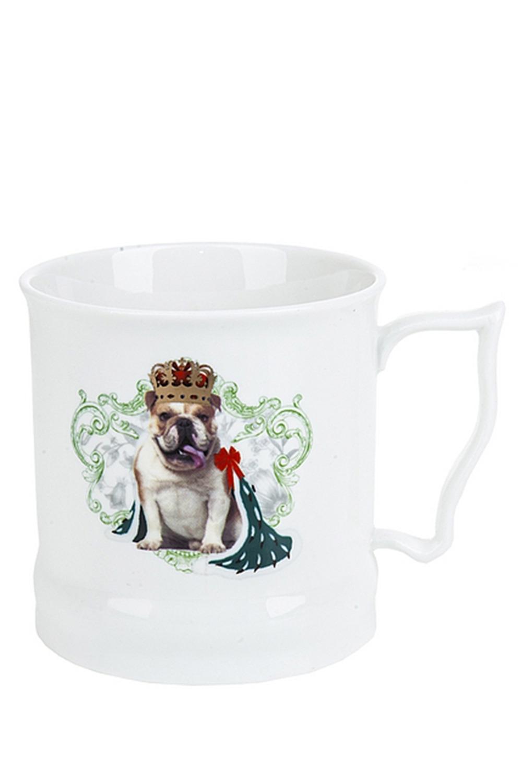 Кружка фарфоровая Королевские собакиПодарки для женщин<br>Кружка фарфоровая, v=485мл. Материал: Фарфор<br>