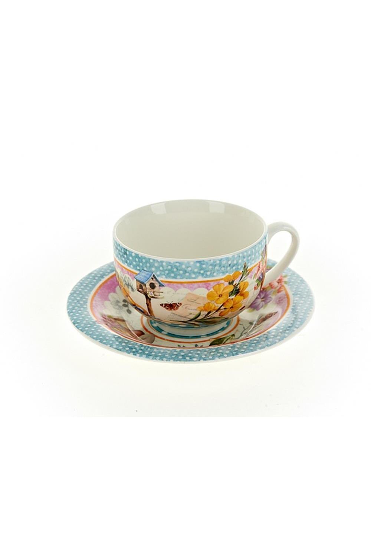 Чайный набор Солнечное летоПосуда<br>Чайный набор 4пр., v=230мл. Материал: Костяной фарфор<br>