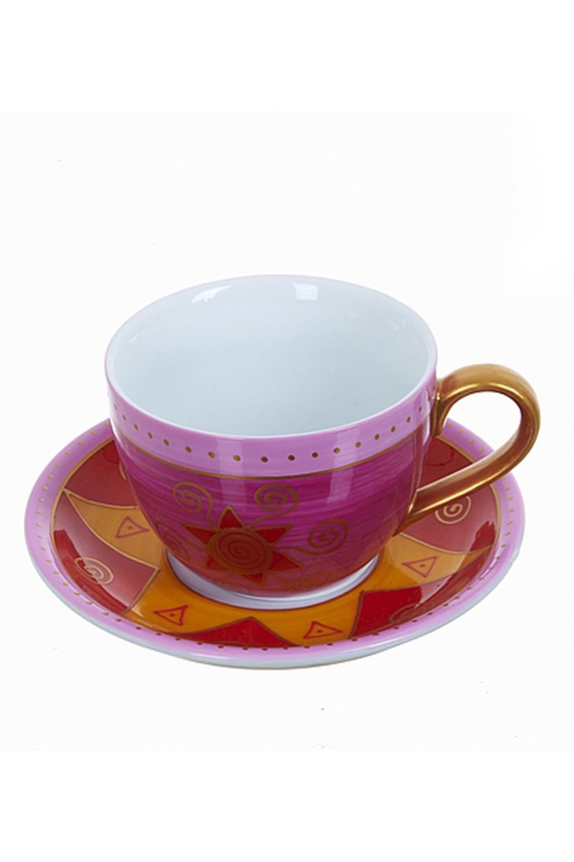 Чайный набор Восточное утроПосуда<br>Чайный набор 2пр., v=220мл. Материал: Фарфор<br>