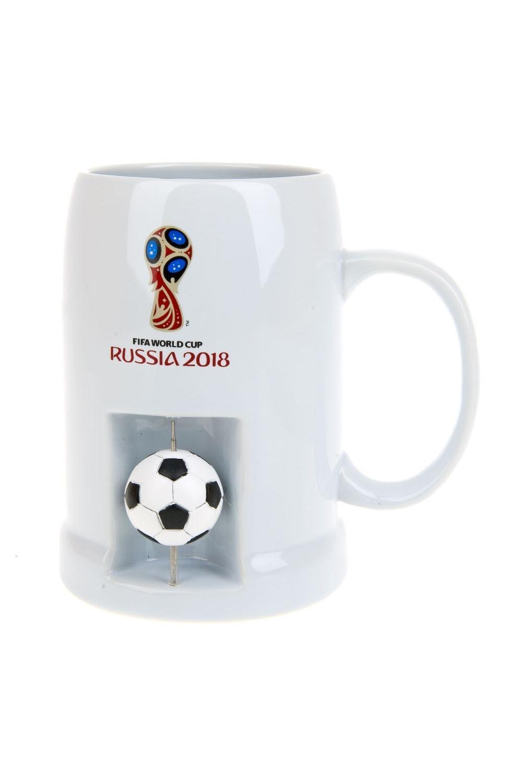 Кружка пивная FIFA World Cup RUSSIA 2018 - Символика ЧМПосуда<br>Сувенир к Чемпионату Мира по футболу 2018. Пивная кружка 650мл. Материал: керамика<br>