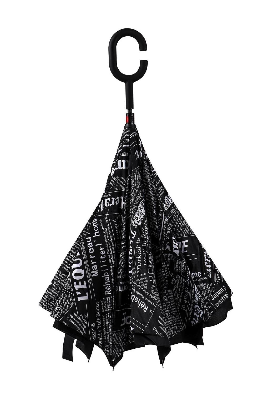 Зонт наоборот ГазетаПодарки<br>Удивительный двусторонний зонт–неваляшка имеет механическую систему открывания и два слоя специальной ткани на куполе. Купол открывается непривычным способом, как бы в обратную сторону. Благодаря оригинальной конструкции, в сложенном виде зонт выворачивается наизнанку и остаётся сухим, не пачкает одежду или сумку. Ручка удобной анатомической формы покрыта силиконом, препятствующим скольжению. С внешней стороны одноцветный купол исполнен из нейлона с водоотталкивающей пропиткой, а внутренний слой с ярким рисунком имеет специальные отверстия для испарения влаги. Но на этом сюрпризы не заканчиваются – зонт умеет самостоятельно стоять без опоры! Достаточно свернуть купол, не застёгивая ремешок, и расположить зонт ручкой вверх на полу. Материал: нейлон, пластик Упаковка: слюдяной чехол. Диаметр купола 110 см, длина 80 см<br>