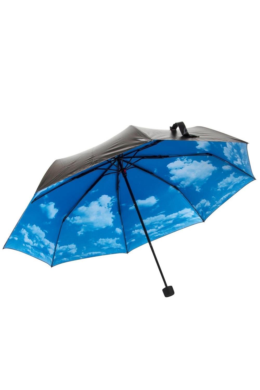 Зонт Небо в облакахПодарки<br>Оригинальный механический зонтик с ярким рисунком с внутренней стороны купола. Внешняя сторона прорезиненая (чёрная нейлон). Размер купола по дуге 106 см, высота зонта 60 см.<br>