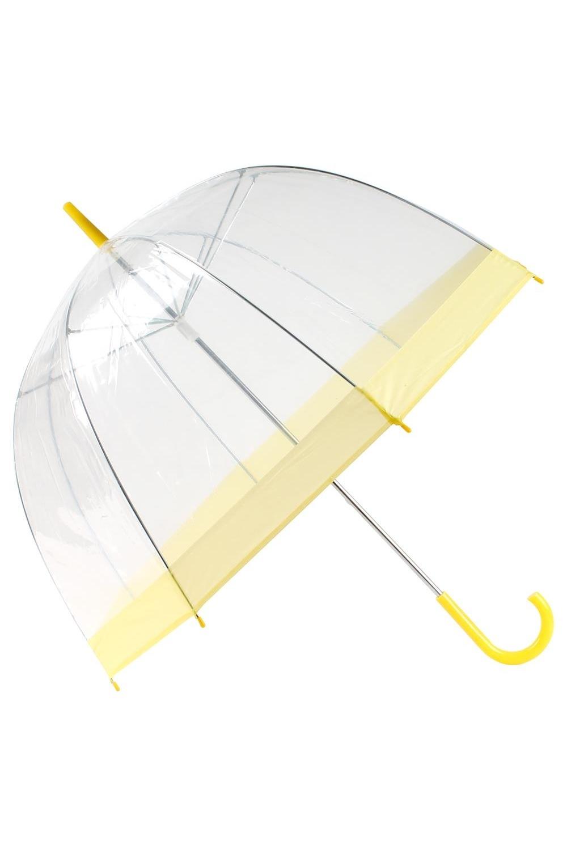 Зонт прозрачный КуполПодарки<br>Зонт не только позволяет любоваться красотой плачущей природы, но и бережно защищает плечи и голову своей обладательницы, благодаря увеличенной глубине купола. Материал: ПВХ, металл Упаковка: полиэтиленовый пакет  Длина дуги 56см,диаметр 87см.<br>
