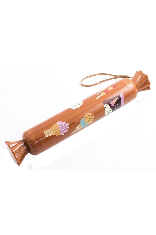 Зонт КонфетаПодарки<br>Уникальный механический зонт двойного сложения убирается в специальный декоративный пластиковый чехол. Чехол предохранит сумку или одежду от намокания, послужит необычной подарочной упаковкой. Изнутри на купол нанесено серебристое непромокаемое и светоотражающее покрытие. Материал: нейлон Упаковка: слюдяной чехол. Размеры в сложенном (в состоянии конфетки): 26,5x4,5x4,5 см Размеры в разложенном состоянии: диаметр купола 90 см, высота зонта 53 см Размеры упаковки: 27х4,5 см<br>