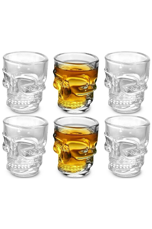 Стопки 6 шт ЧерепПосуда<br>Оригинальный набор стеклянных стопок. Размеры упаковки: 17 х 11 х 6,5 см.<br>