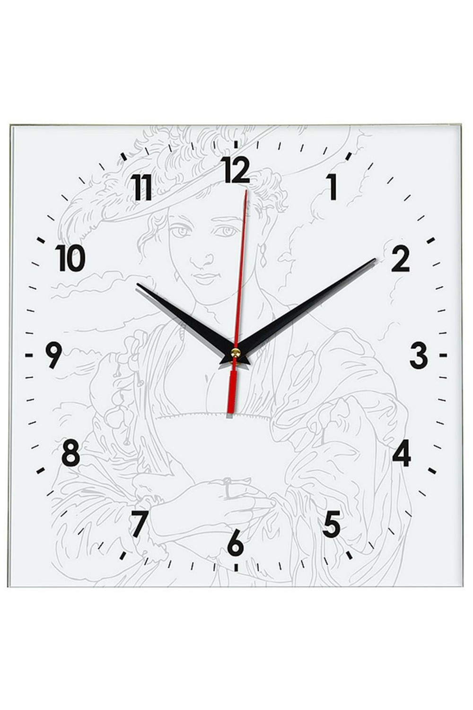 Часы раскраска ДамаИнтерьер<br>Оригинальные часы-раскраска со специальным основанием из плотного картона. В комплекте имеются акварельные краски, также для раскрашивания можно использовать карандаши, ручки, маркеры, фломастеры. Механизм хода бесшумный (не тикающий). Элемент питания: 1 х батарейка (АА, LR6), 1.5В Размеры упаковки: 30см х 30см х 4см. Размеры часов: 24х3 см.<br>