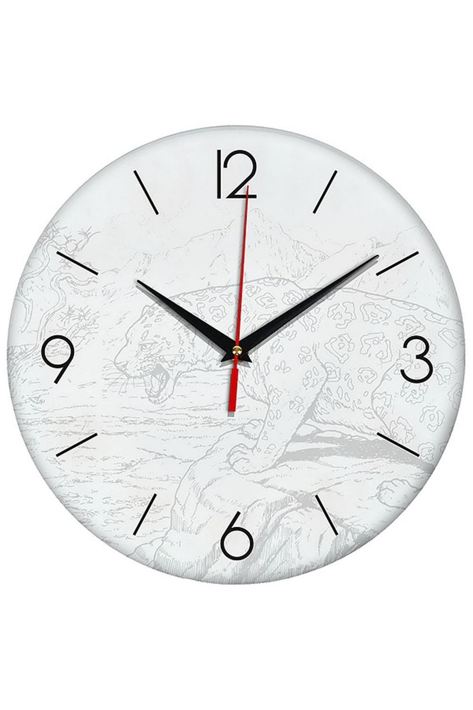 Часы раскраска ЛеопардИнтерьер<br>Оригинальные часы-раскраска со специальным основанием из плотного картона. В комплекте имеются акварельные краски, также для раскрашивания можно использовать карандаши, ручки, маркеры, фломастеры. Механизм хода бесшумный (не тикающий). Элемент питания: 1 х батарейка (АА, LR6), 1.5В Размеры упаковки: 30см х 30см х 4см. Размеры часов: 24х3 см.<br>
