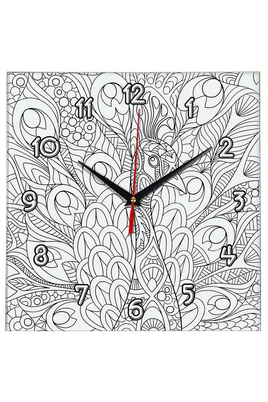 Часы раскраска ПавлинИнтерьер<br>Оригинальные часы-раскраска со специальным основанием из плотного картона. В комплекте имеются акварельные краски, также для раскрашивания можно использовать карандаши, ручки, маркеры, фломастеры. Механизм хода бесшумный (не тикающий). Элемент питания: 1 х батарейка (АА, LR6), 1.5В Размеры упаковки: 30см х 30см х 4см. Размеры часов: 24х3 см.<br>