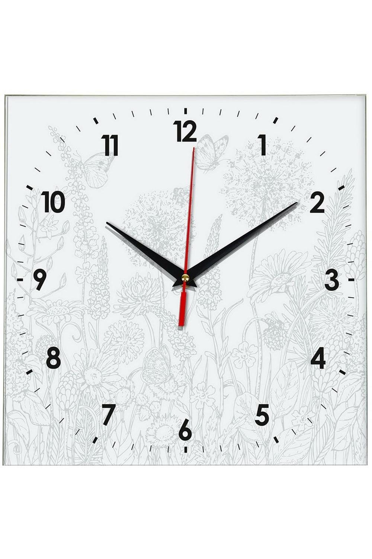 Часы раскраска ЦветыИнтерьер<br>Оригинальные часы-раскраска со специальным основанием из плотного картона. В комплекте имеются акварельные краски, также для раскрашивания можно использовать карандаши, ручки, маркеры, фломастеры. Механизм хода бесшумный (не тикающий). Элемент питания: 1 х батарейка (АА, LR6), 1.5В Размеры упаковки: 30см х 30см х 4см. Размеры часов: 24х3 см.<br>