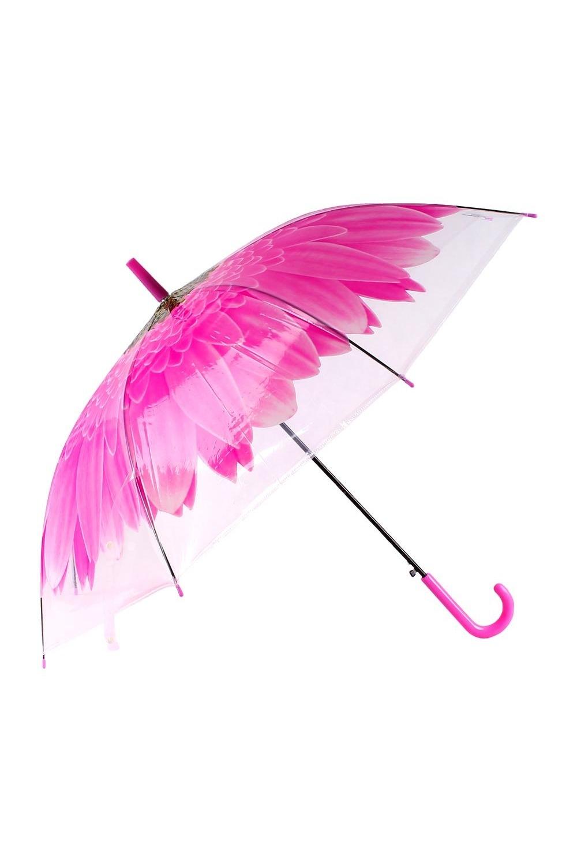 Зонт купол Цветок розовый зонты bradex зонт трость прозрачный купол
