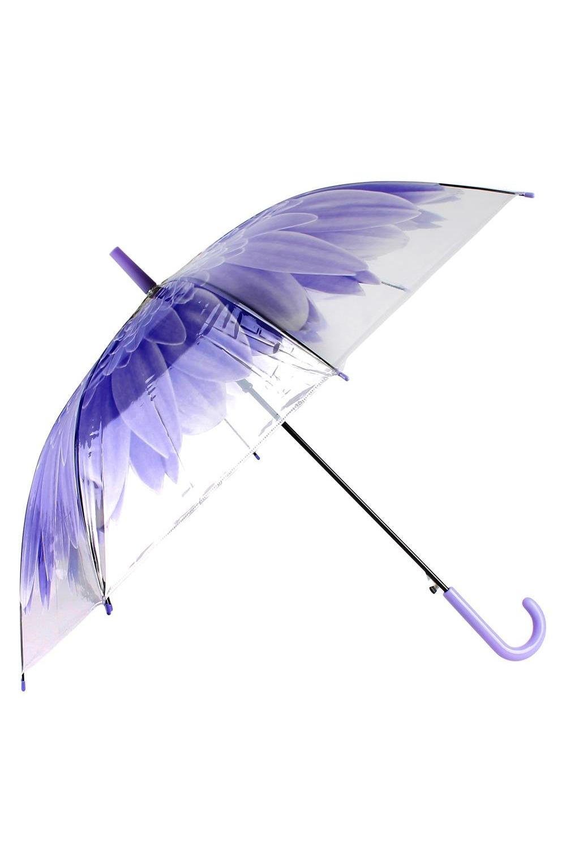 Зонт купол Цветок синий зонты bradex зонт трость прозрачный купол
