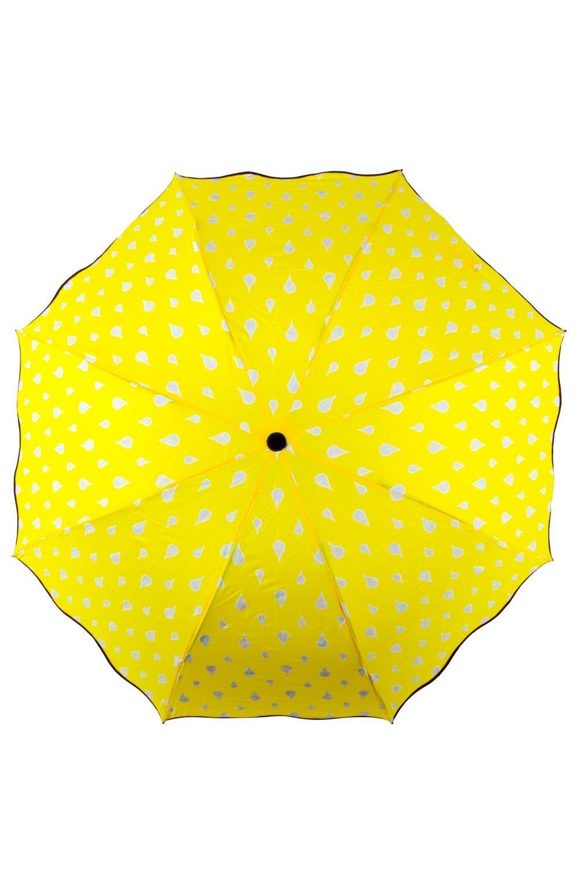"""Зонт хамелеон """"Капельки желтый"""""""