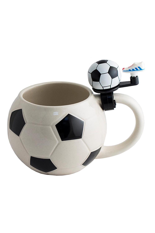 Кружка с звонком ФутболПосуда<br>Пивная кружка футбол Звонок в виде бутсы на ручке по вашему желанию сообщит, что напиток пора освежить или станет радостным сигналом победы. Материал: керамика, металл, пластик Размеры кружки: 17х12х12 см Объём жидкости: 560 мл<br>