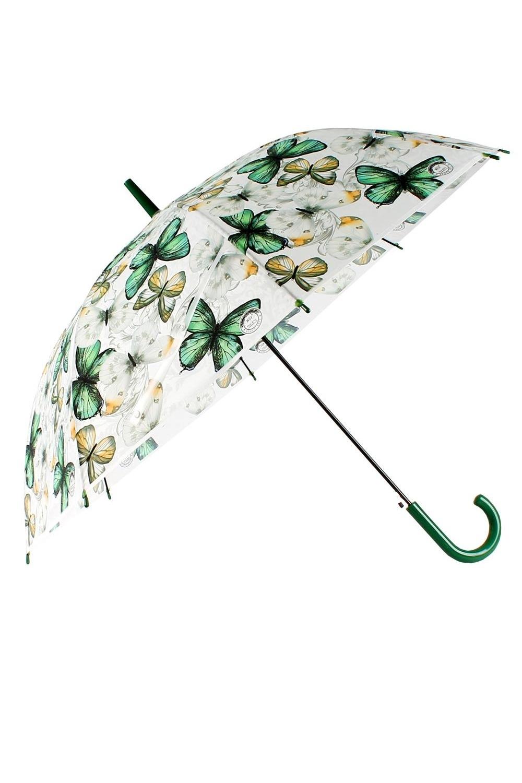 Зонт БабочкиПодарки<br>Полуавтоматический зонт-трость с куполом из матового полимерного материала. Бархатистая водоотталкивающая поверхность позволяет легко смахивать капли. Материал: металл, полимер. Упаковка: слюдяной чехол. Диаметр купола 110 см, длина трости 80 см.<br>