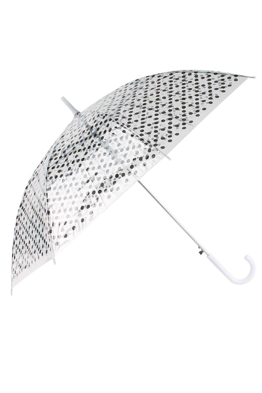 Зонт купол Горошек зонты bradex зонт трость прозрачный купол