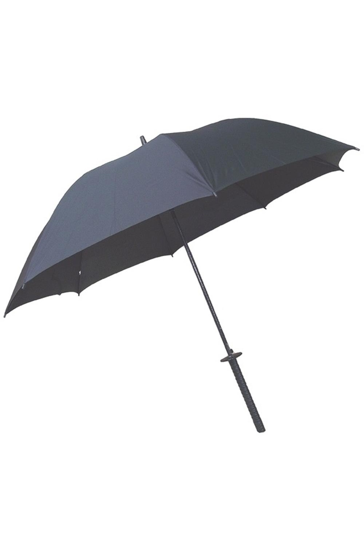 Зонт складной Меч самураяПодарки<br>Полуавтоматический зонт из ткани с влагоотталкивающей пропиткой. Чехол с наплечным ремнём. Ручка выполнена из пластмассы, имитирует рукоять самурайского меча. Диаметр в раскрытом состоянии: 150 см Уаковка - плёнка. Размеры: 110 х 8 х 8 см.<br>
