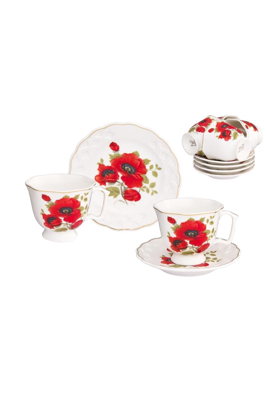 Кофейный набор Маки чайный набор маки 12 предметов блюдце 15 15 2 5 см 6 шт чашка на ножке 12 5 10 7 см 250 мл 6 шт в п у 1236245