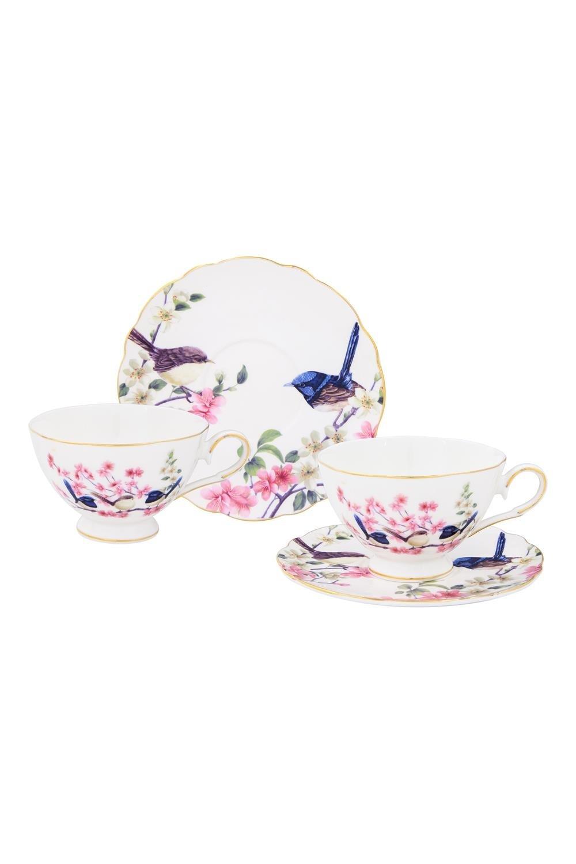 Чайная пара Райские птички чайная пара нежные розы 275 мл 4 предмета в подарочной упаковке 801142