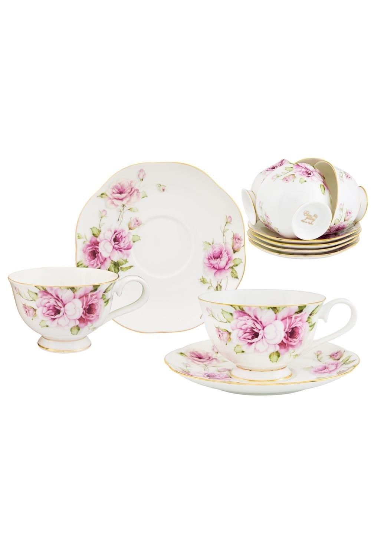 Чайный набор Амалия чайный набор маки 12 предметов блюдце 15 15 2 5 см 6 шт чашка на ножке 12 5 10 7 см 250 мл 6 шт в п у 1236245