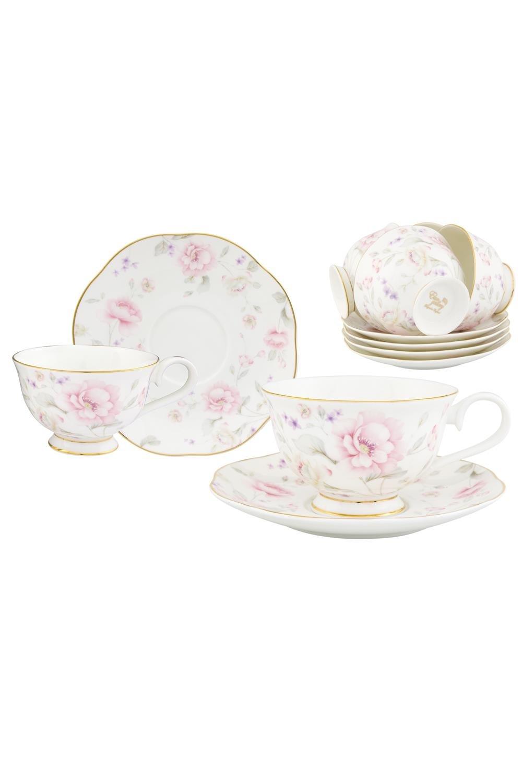 Чайный набор Жизель чайный набор маки 12 предметов блюдце 15 15 2 5 см 6 шт чашка на ножке 12 5 10 7 см 250 мл 6 шт в п у 1236245